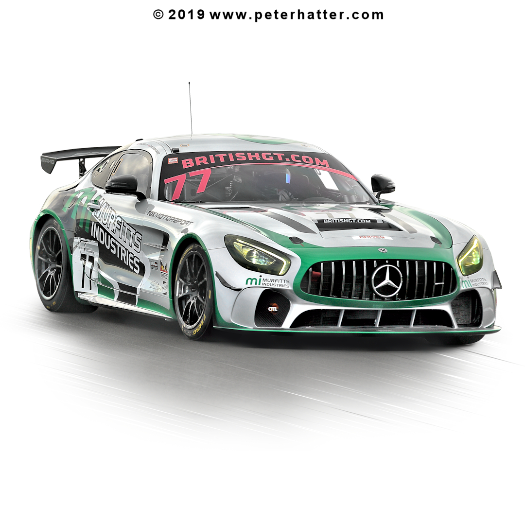 AMG Mercedes from the British GT series.