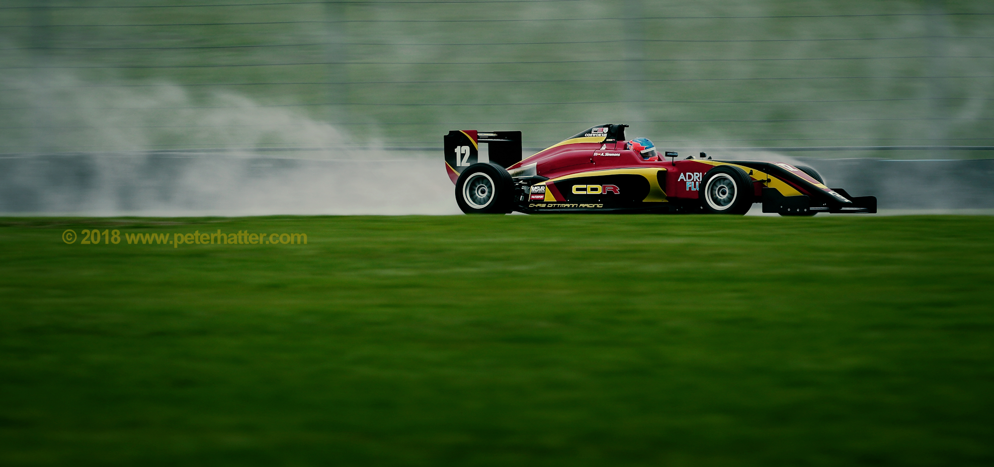 F3 testing in the spray and rain