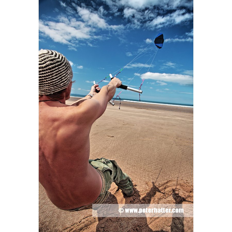 Extreme sport beach  kite flying