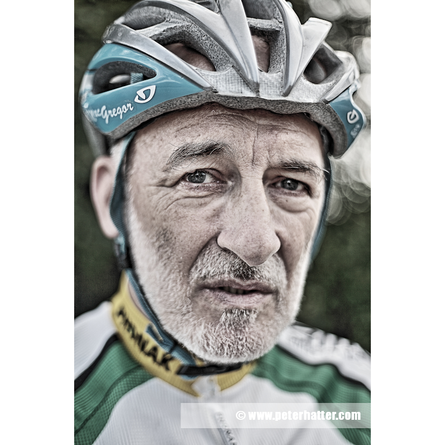 Portrait of cycle road racer.